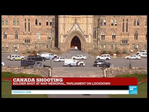 BREAKING NEWS - Shooting in Canada, soldier shot at war memorial - Ottawa