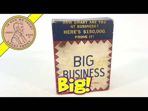 Vintage 1936 Big Business Money Classic Board Game, Similar to Monopoly