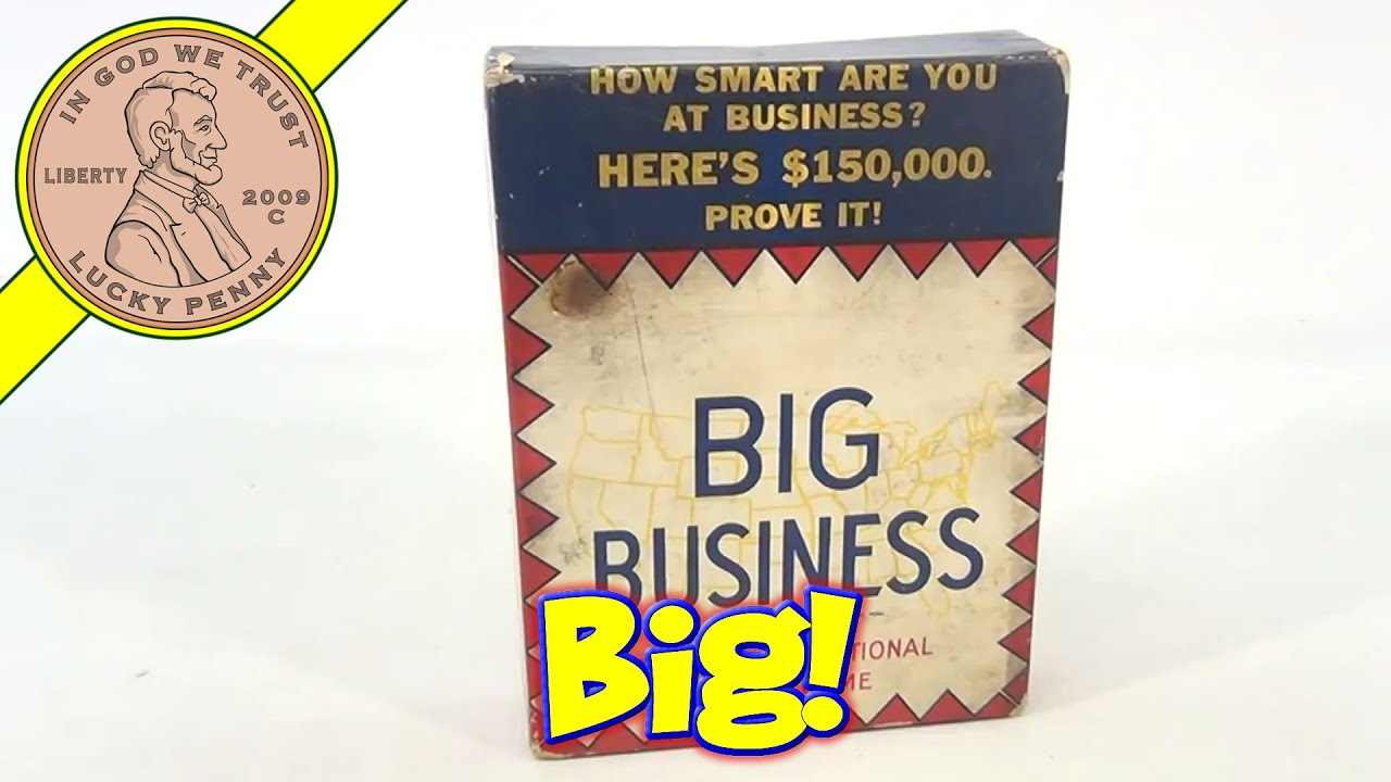 Vintage 1936 big business money classic board game similar to monopoly