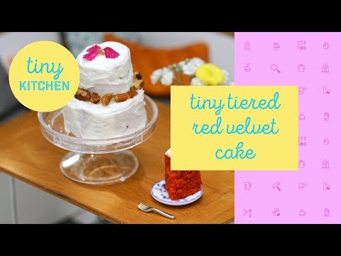 Tiny Tiered Red Velvet Cake | Tiny Kitchen