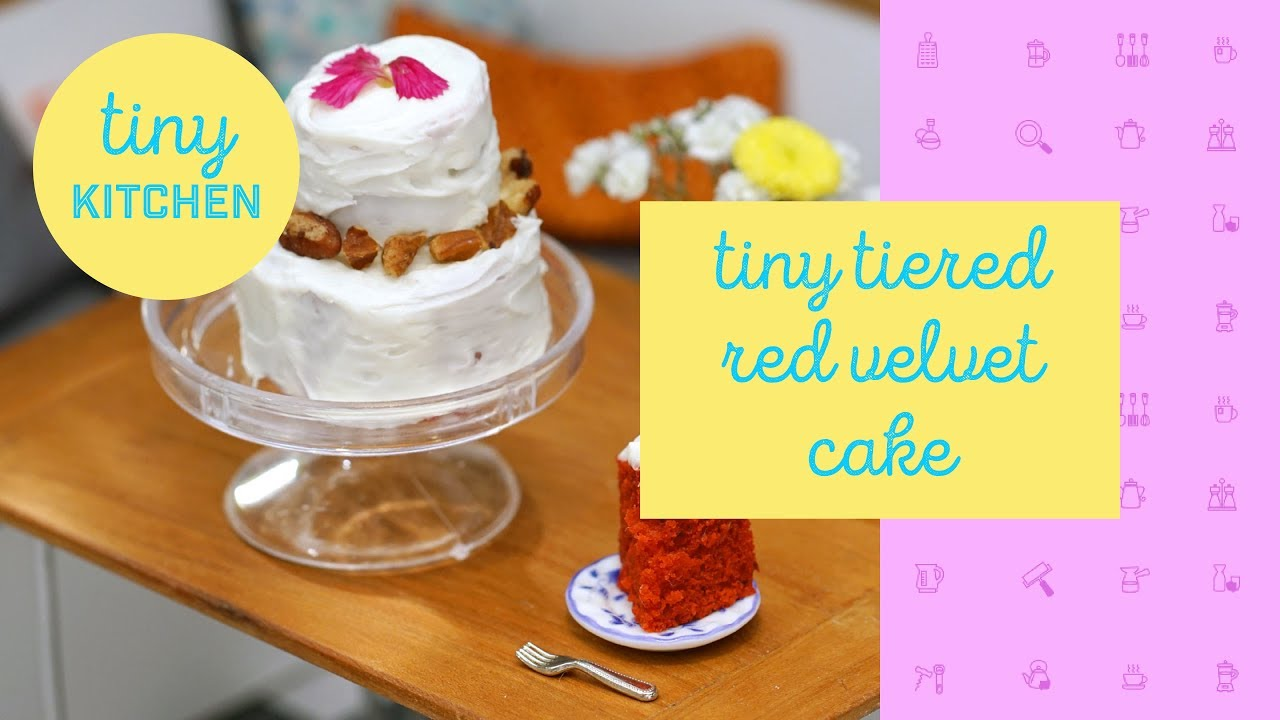 Tiny Tiered Red Velvet Cake | Tiny Kitchen - YouTube