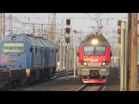 Электровоз ЭП20-031 с поездом№029Ч Москва-Калининград станция Кубинка-1 21.04.2019