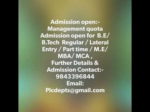 Best Engineering college in Management quota Admission, +2 Pass Tamilnadu , Kerala, Andhara Pradesh