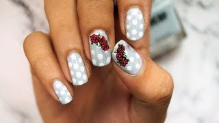 *POLKA DOTS* flower Nail Art