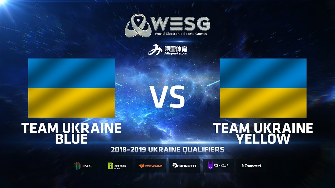Team Ukraine Blue vs Team Ukraine Yellow, Game 2, WESG 2018-2019 Ukraine Qualifiers