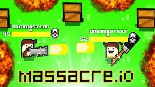 INVINCIBILITY GLITCH IN MASSACRE.IO!! - Brand New .IO Game - Massive Scale War Zone!!