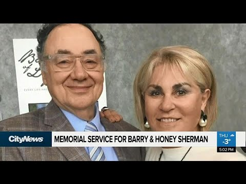 Memorial service for Barry & Honey Sherman