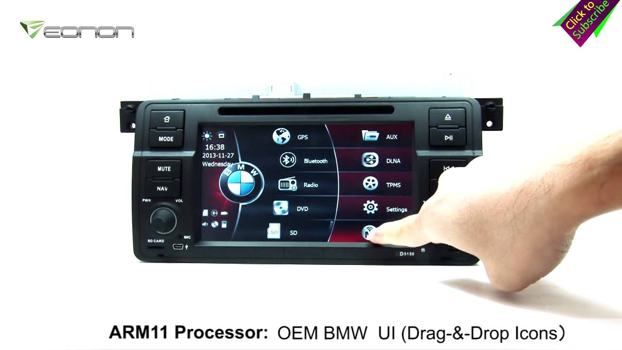 maxresdefault eonon d5150 bmw e46 car dvd gps with oem bmw ui & arm processor eonon d5150 wiring diagram at bayanpartner.co