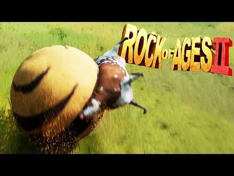Cow EATING DIRT Rock of DOOM! - Rock of Ages 2: Bigger and Boulder Gameplay