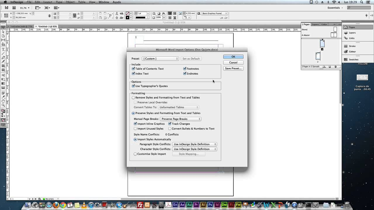 02 COMO CREAR UN LIBRO EN INDESIGN CS6 / insertar documento word ...