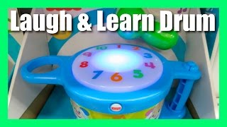 Fisher Price Laugh and Learn Tap and Teach Drum - Puppy's Musical Learning Drum - Fisher Price Toys