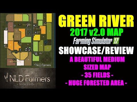 "Farming Simulator 17 - Green River Map 2017 v2.0 ""Map Mod Review"""