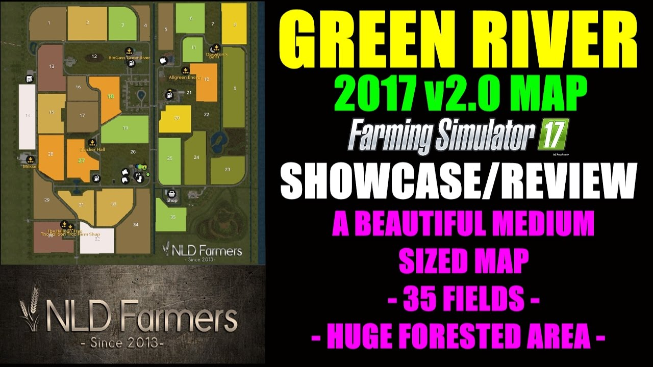 Farming Simulator 17 Green River Map 2017 v20 Map Mod Review