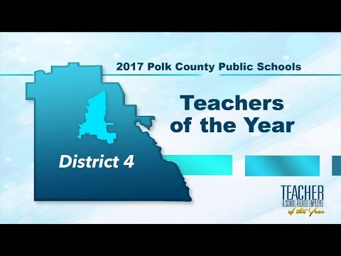 2017 Teachers of the Year - District 4