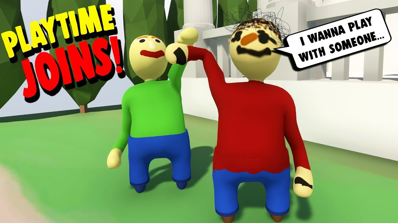 Play As Playtime She Joins Baldi S Adventure Human Fall Flat