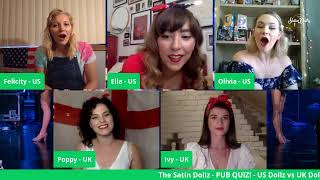 The Satin Dollz - Pub Quiz! US Dollz vs. UK Dollz