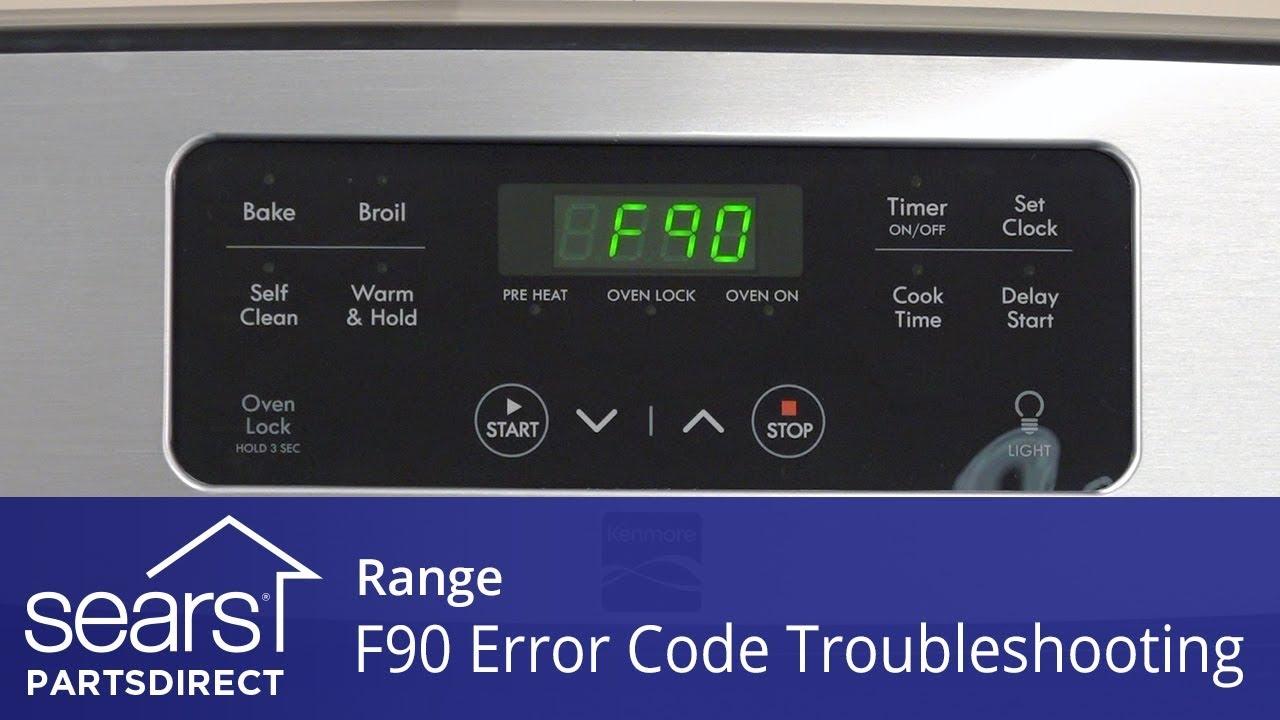 Troubleshooting An F90 Error Code On A Range Youtube