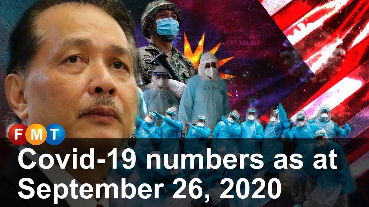 Covid-19 numbers as at September 26, 2020