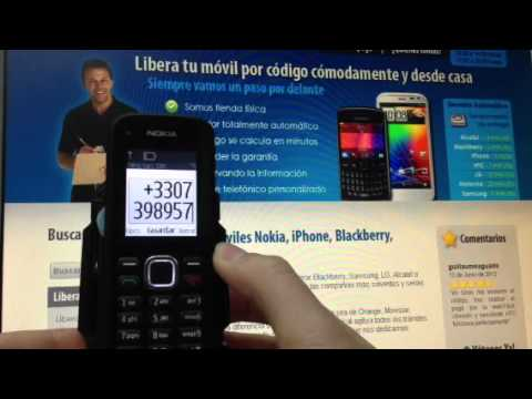 Liberar Nokia C1-02 vía imei de Movistar, Vodafone y Orange