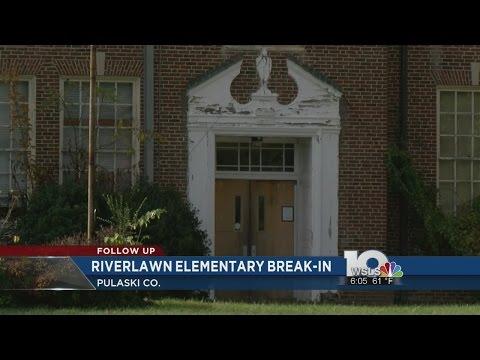 Old Riverlawn Elementary School gets broken into, set on fire