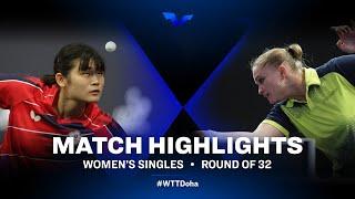 Li Yu Jhun vs Pesotska | WTT Star Contender Doha 2021 | WS | R32