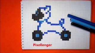 Робот Собака Чип Как рисовать по клеточкам в тетради How to Draw CHiP Dog WowWee