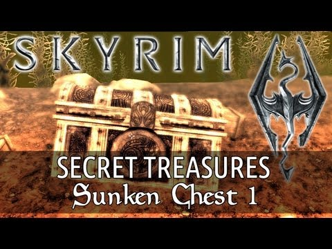 Skyrim Secret Treasure - Sunken Chest 1 (Skyrim's Best Secrets, Treasures & Places)