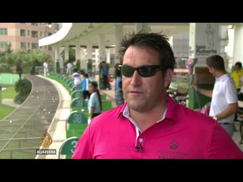 Golf's increasing popularity in China