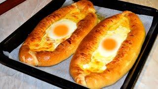 Хачапури по аджарски рецепт Как быстро приготовить лодочки с яйцом сыром и сулугуни дома