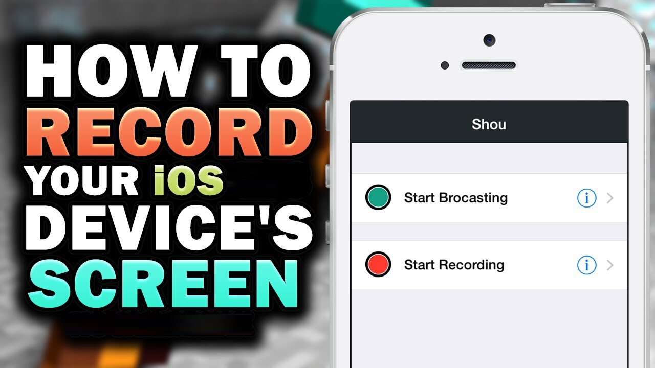 How to get screen record on iphone 6 s plus with sound