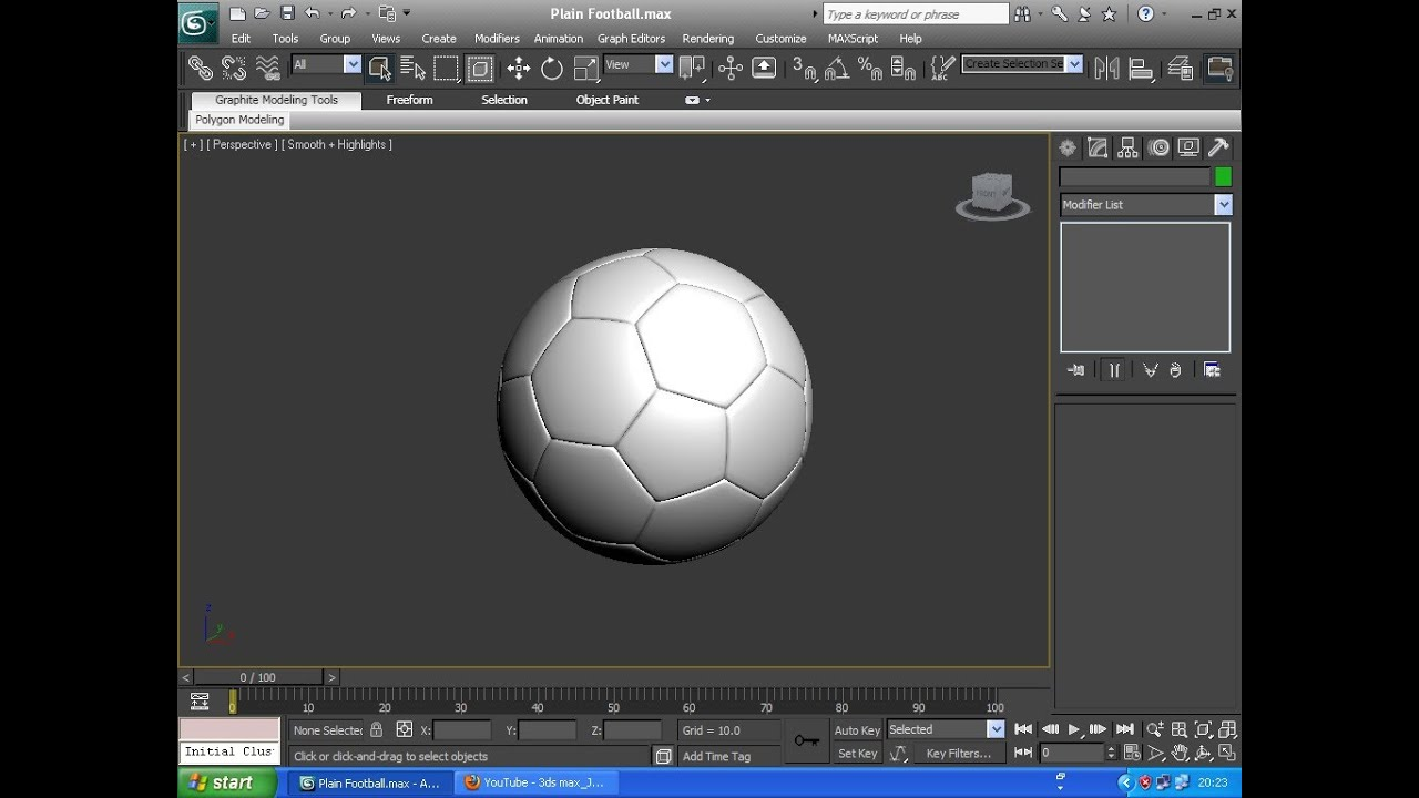 3ds Max Tutorial How To Create A Realistic Soccerball Or