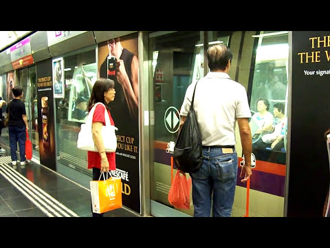 Metro/subway in Singapore, Singapore (MRT) 地铁在新加坡