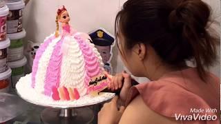 Làm Bánh Kem Váy Búp Bê Đơn Giản - How to make barbie doll cake