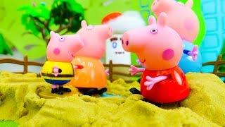 Мультик с игрушками Свинка Пеппа. Что делать, если высохла лужа?