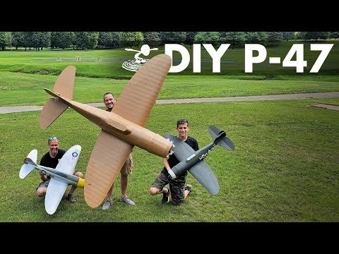 Flying 8-foot P-47 Thunderbolt 😲 Made From Foamboard