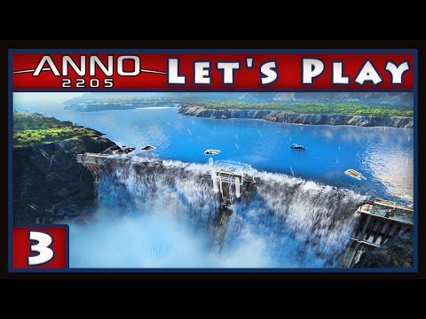 Anno 2205 Gameplay -  Fixing The Super Dam And Making Bank    (Anno Let's Play part 3)