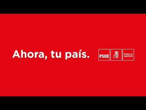 Pedro Sánchez interviene en un acto de campaña del PSC en Mataró