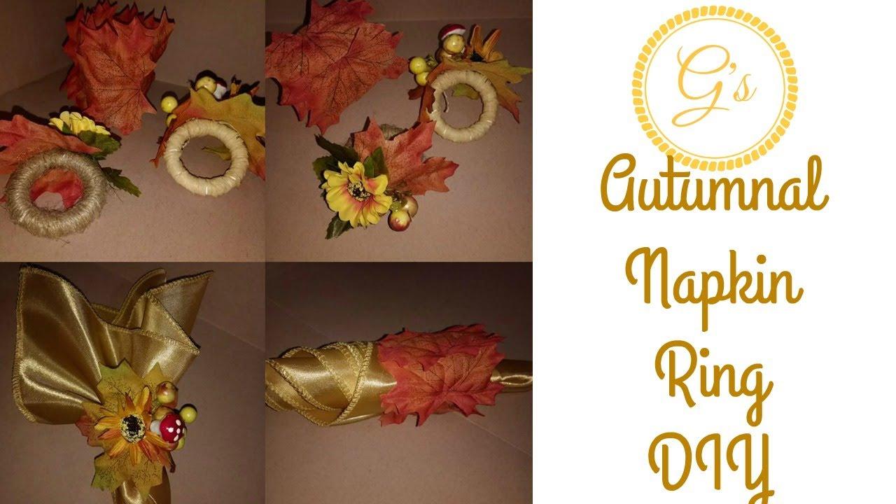 2 styles diy harvest autumn fall thanksgiving napkin ring youtube