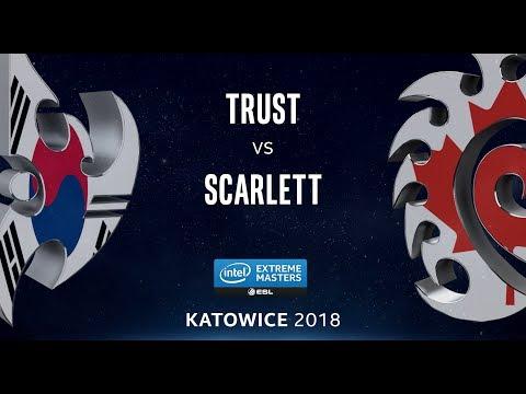 StarCraft II - Trust [P] vs. Scarlett [Z] - LB Ro4 - B2 - IEM Katowice 2018