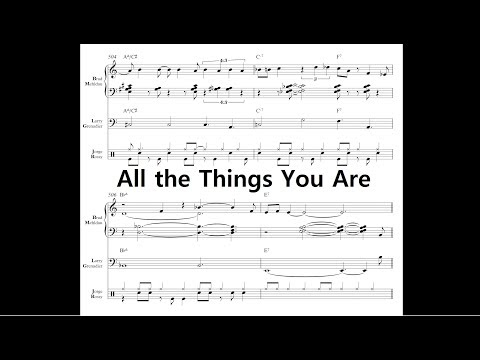 Brad Mehldau Trio - All the Things You Are (Complete Transcription)