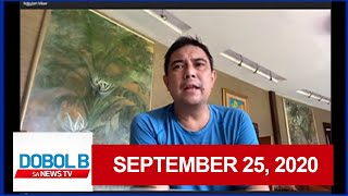 Dobol B Sa News TV Livestream: September 25, 2020 | Replay
