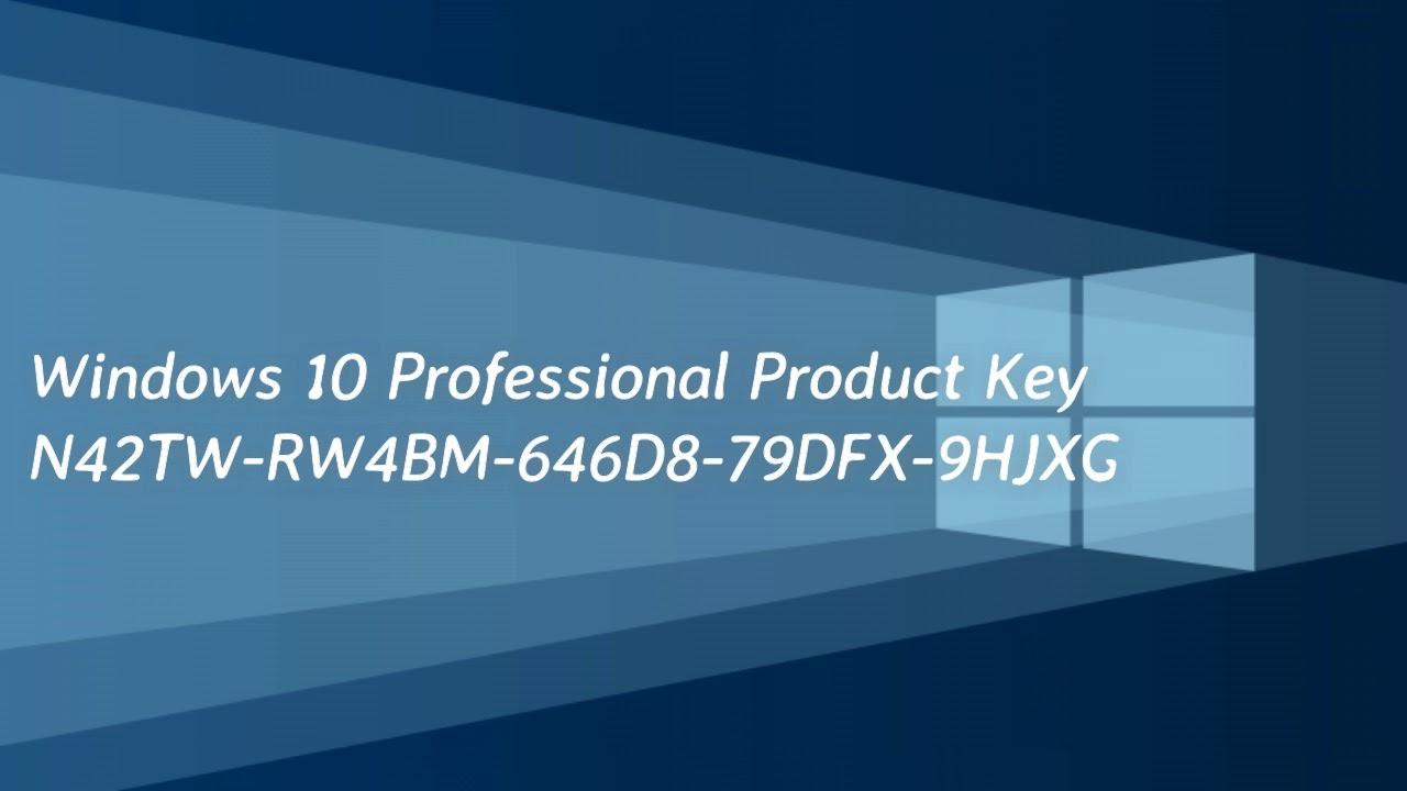 Windows 10 Product Key (100% Working) (Update 2019) - YouTube