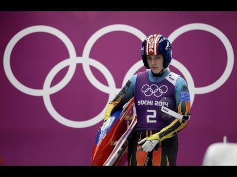USA Erin Hamlin WINS BRONZE medal in Women's Luge