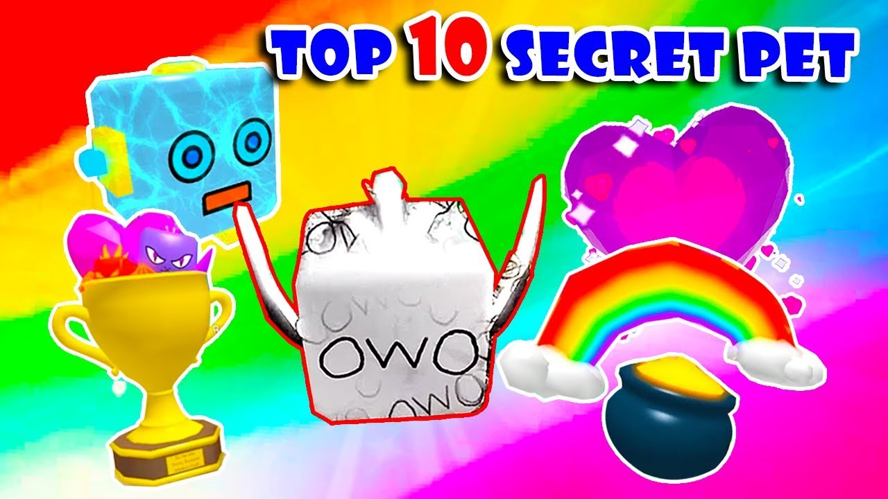 Top 10 Rarest Strongest Legendary Secret Pets In Bubble Gum Simulator Roblox Youtube