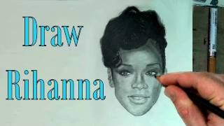 How to Draw Rihanna Step by Step