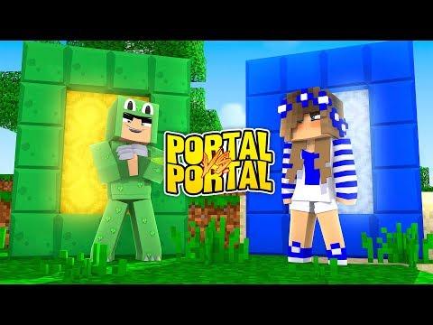 Minecraft - LITTLE LIZARD PORTAL VS LITTLE CARLY PORTAL! Tinyturtle vs Little Kelly