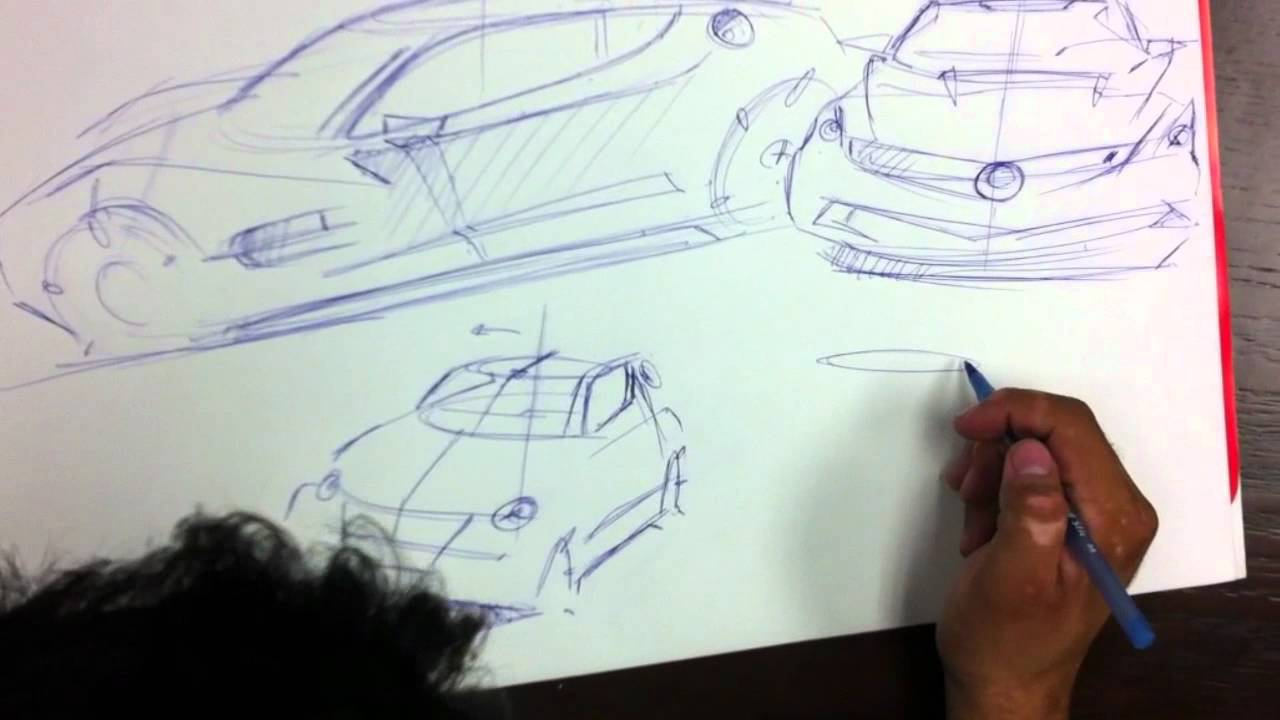 Tutorial para dibujar carros en perspectiva usando elipses - YouTube