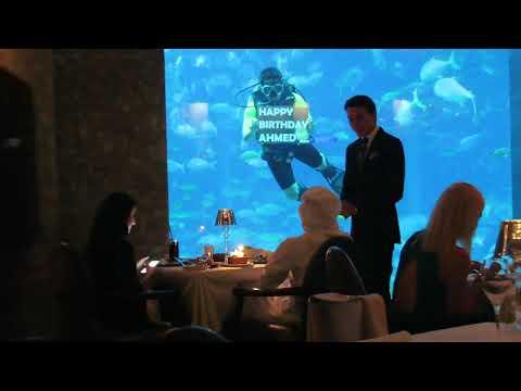 Happy Birthday Surprise (Ossiano Restaurant) – Atlantis The Palm (Lost Chambers Aquarium) Dubai UAE