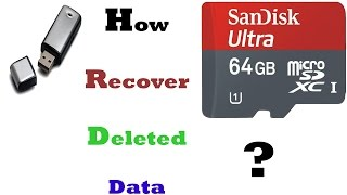 Recover data from  hard drive pendrive memory card