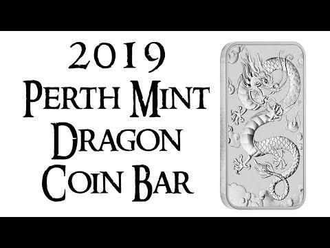 2019 Perth Mint Silver Dragon Coin Bar